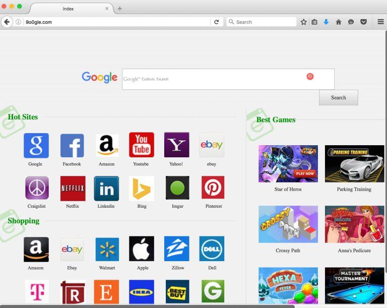 9o0gle.com browser hijacker