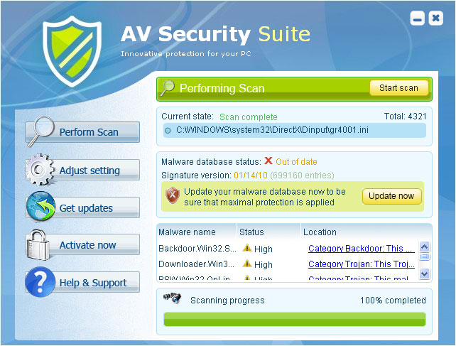 AV Security Suite - rogue tool