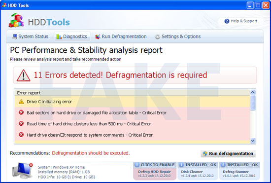 Quick Defrag malware