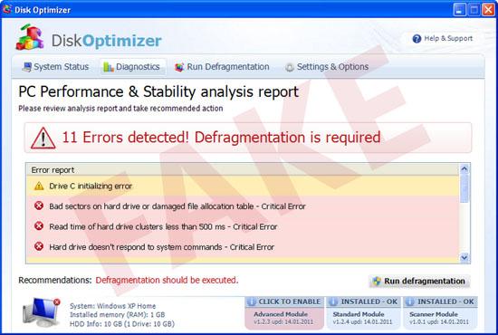 Disk Optimizer virus
