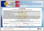 Votre ordinateur est bloqué en raison du délit de la loi France