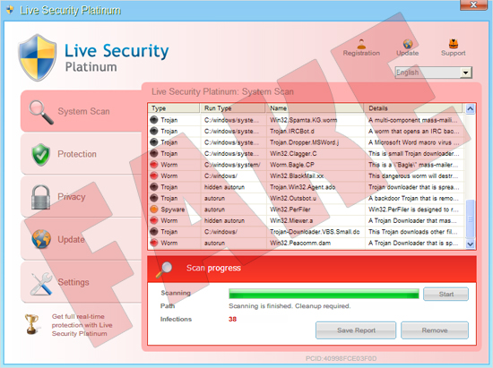 Live Security Platinum Malware