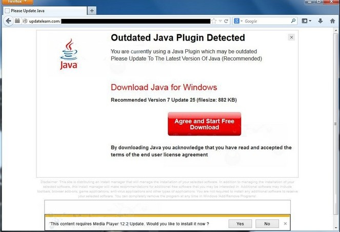 Outdated Java Plugin Detected