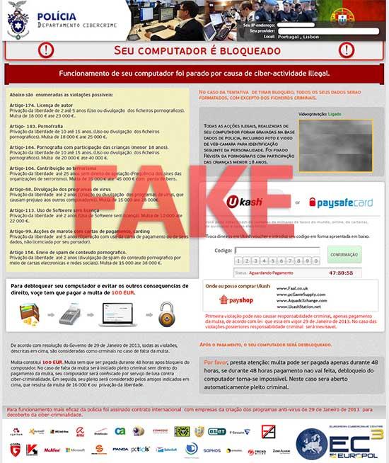 Policia Departamento Cibercrime virus