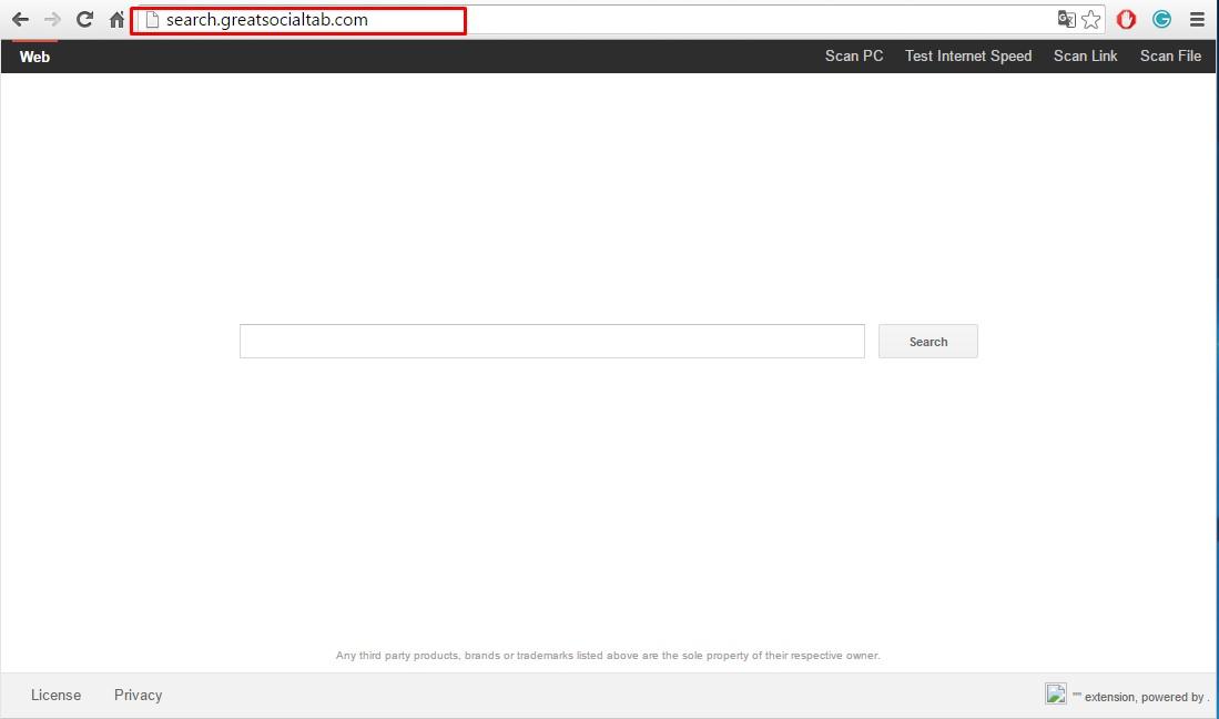 Search.greatsocialtab.com virus