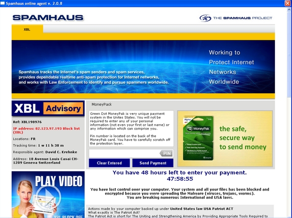 Spamhaus ransomware