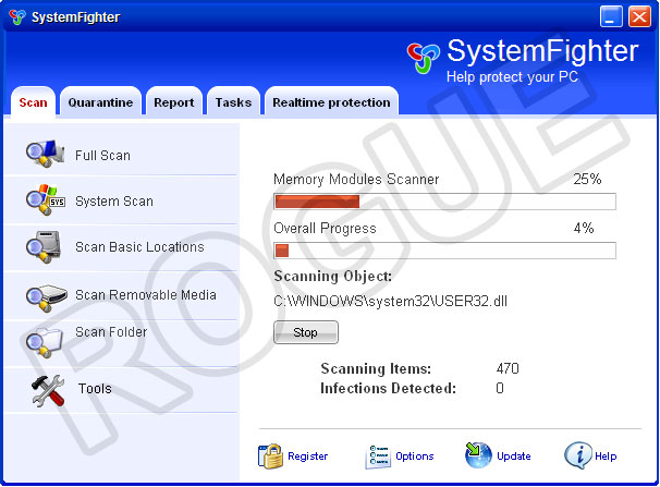 SystemFighter - Fake Scan