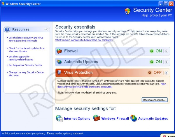 SystemFighter - Fake Security Center