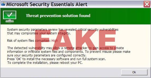 Threat Prevention Solution Found message
