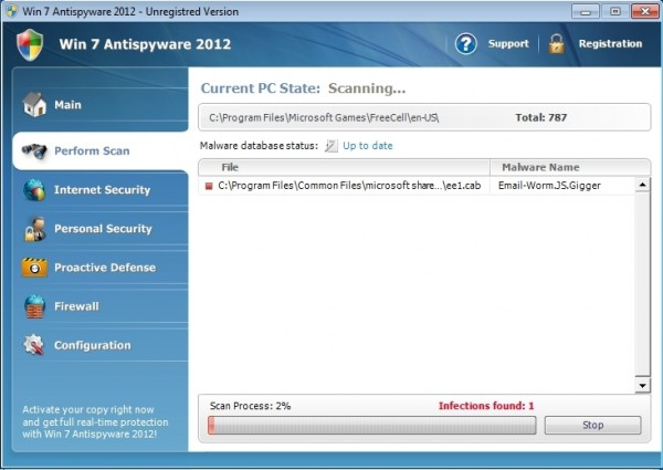 Win 7 Antispyware 2012
