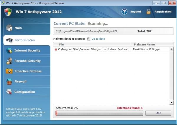 Win 7 Antispyware 2012