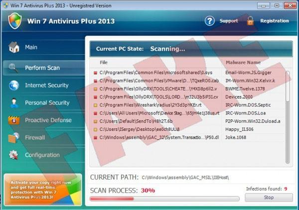Win 7 Antivirus Plus 2013