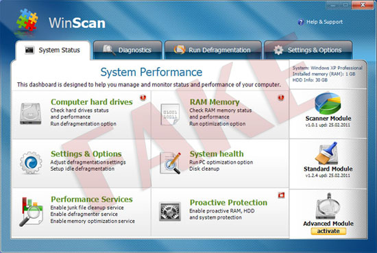 WinScan virus