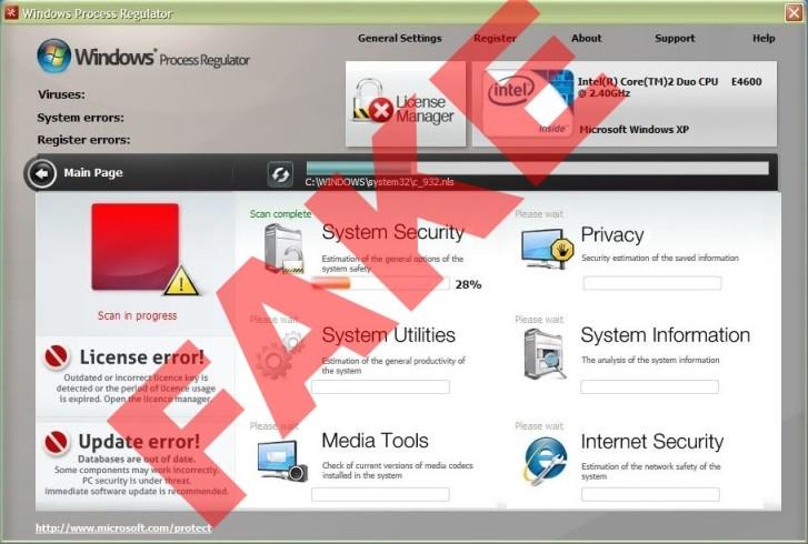 Windows Process Regulator scam