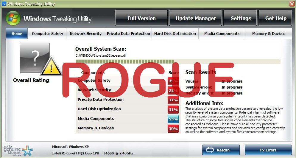 Windows Tweaking Utility virus