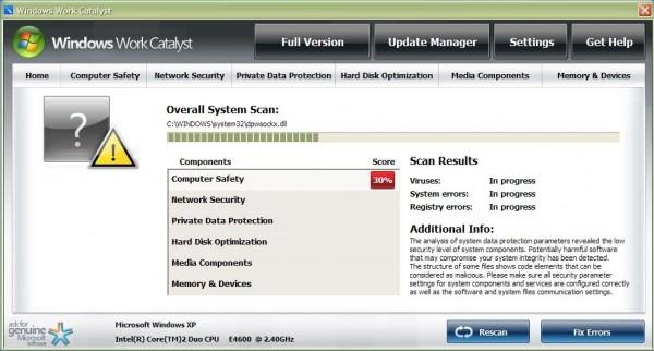 Windows Work Catalyst virus
