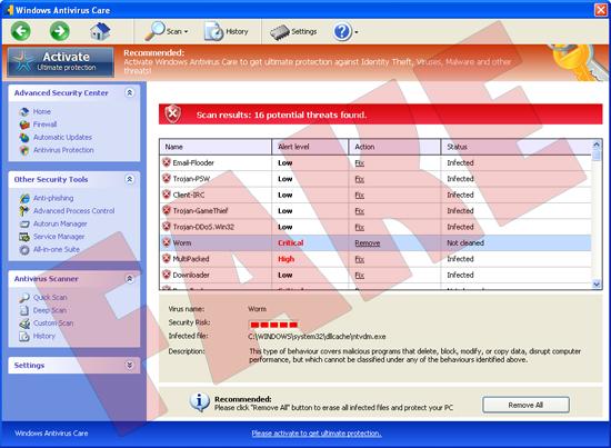Windows Antivirus Care