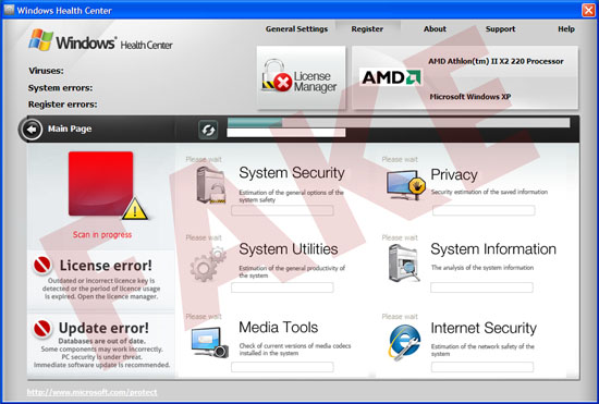 Windows Health Center virus