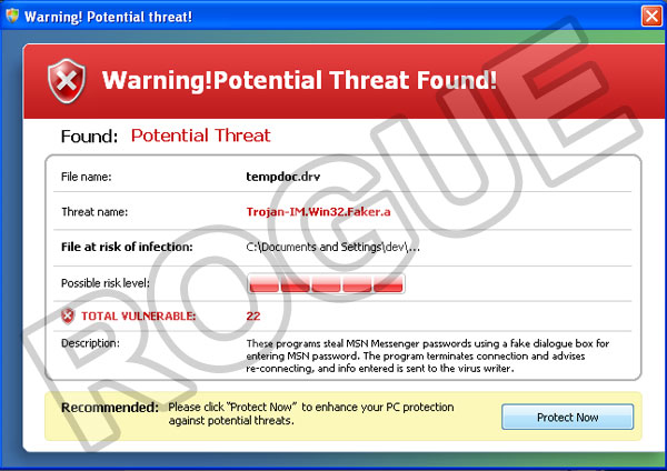 Windows System Defender: fake alert