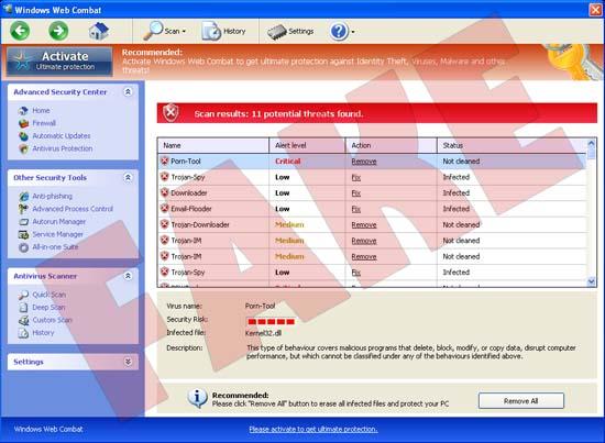 Windows Web Combat