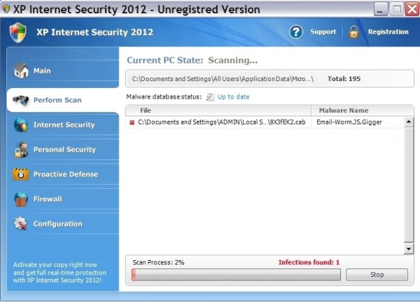 XP Internet Security 2012