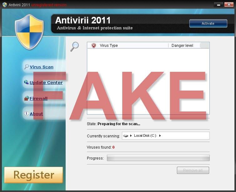 Antivirii 2011 malware