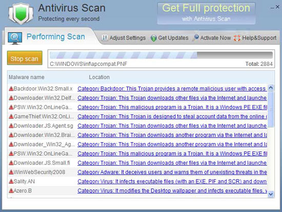 Antivirus Scan - fake!