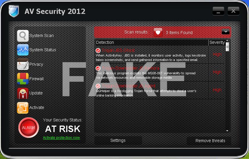 AV Security 2012 virus