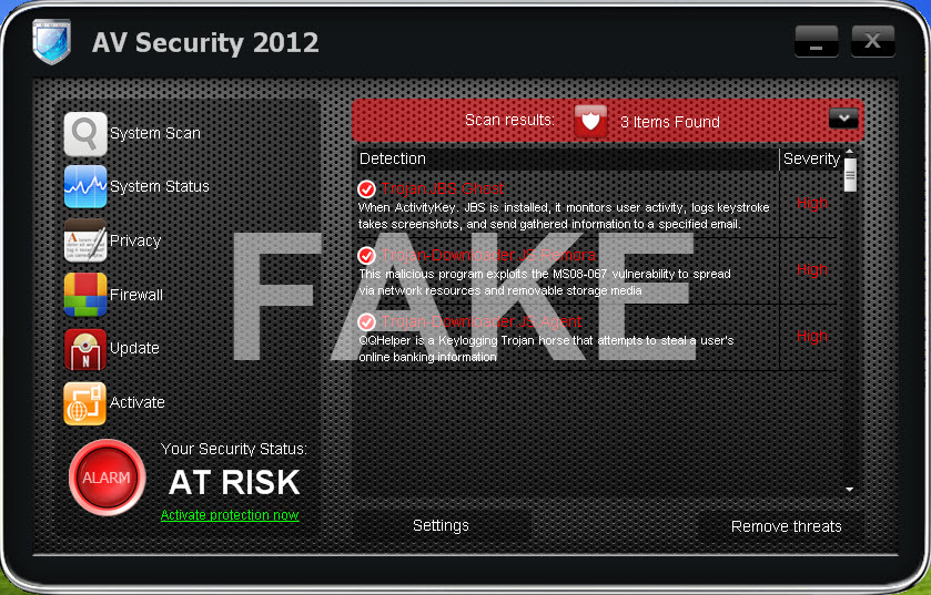 Virus AV Security 2012
