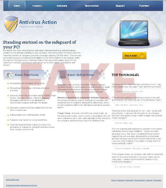 Antivirus Action Hijacker