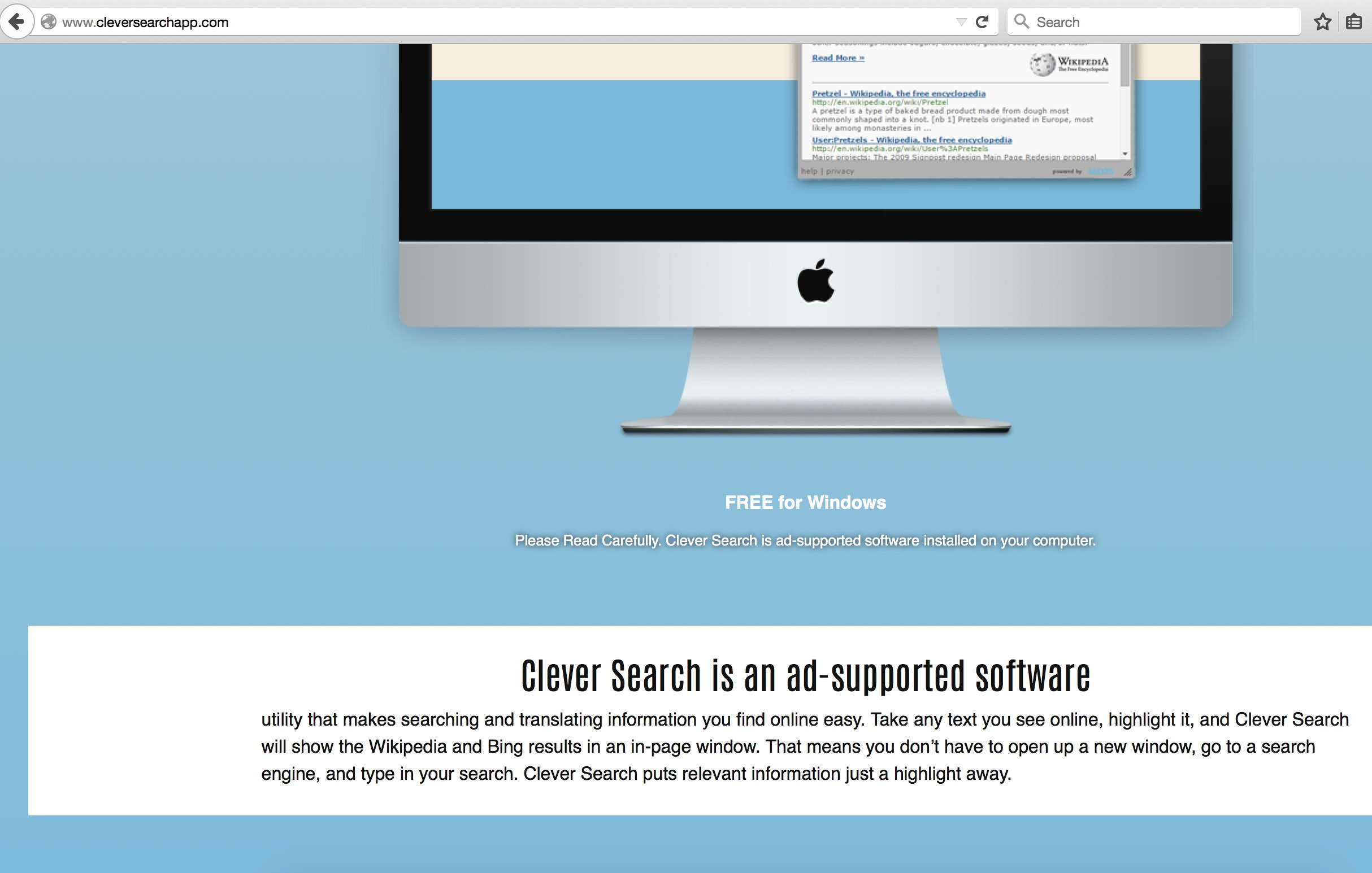 CleverSearch adware