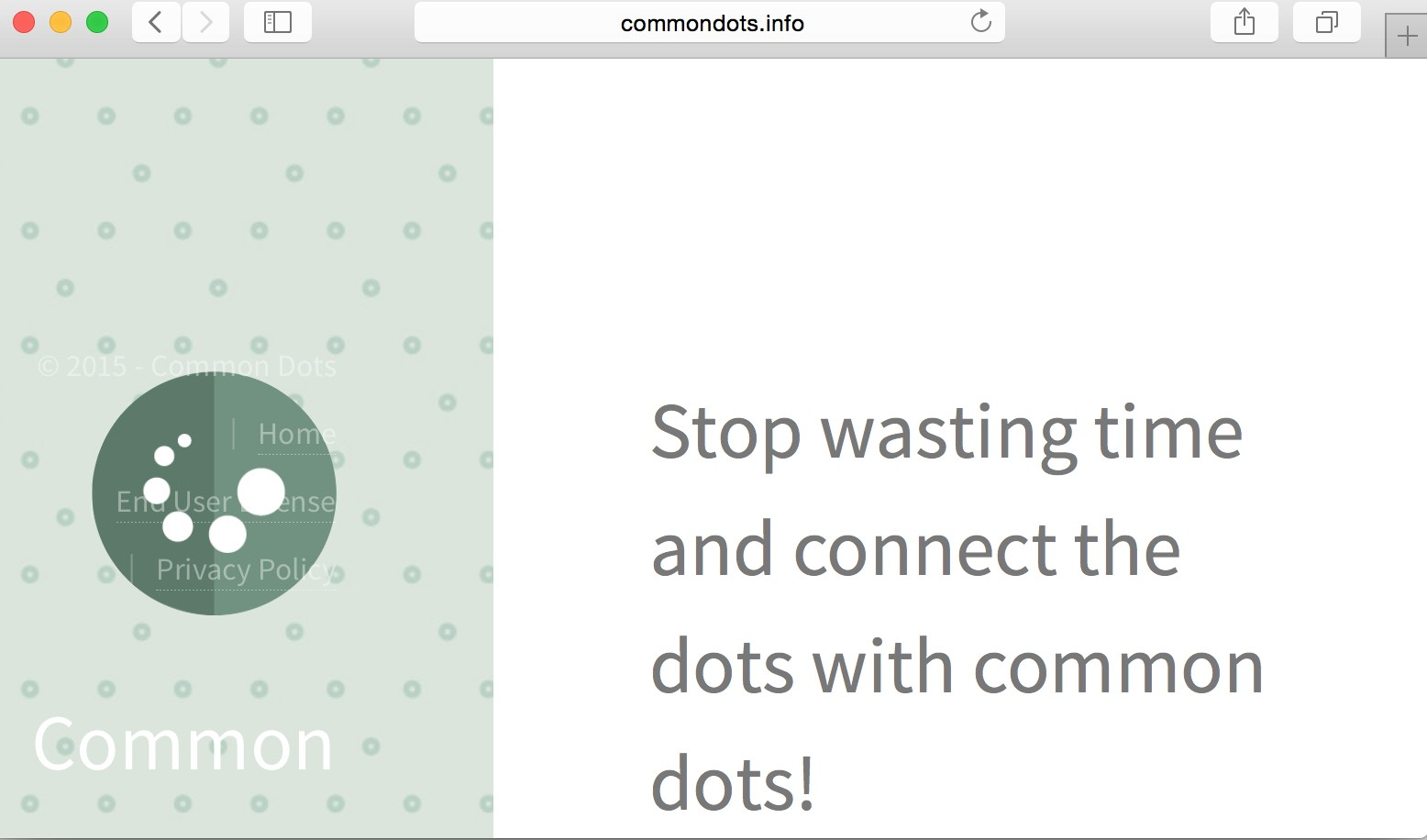 Common Dots adware
