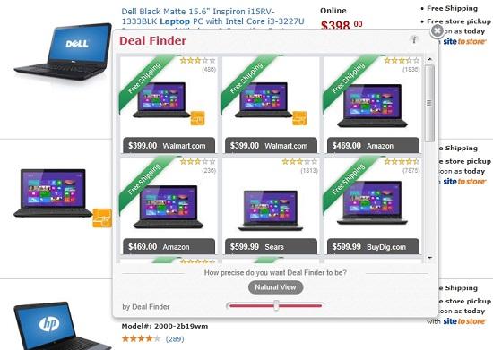 Deal Finder ads