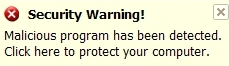 Malicious program has been detected