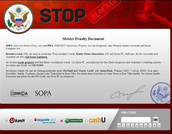 Meister Penalty Document virus