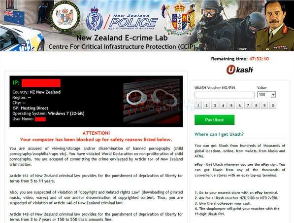 New Zealand Police ransomware