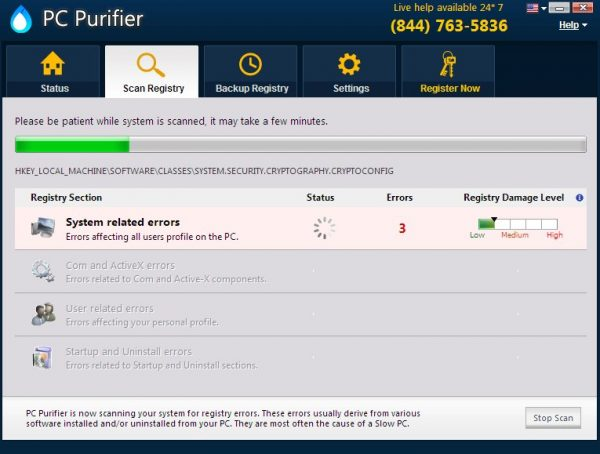 PC Purifier potentially unwanted program (PUP)