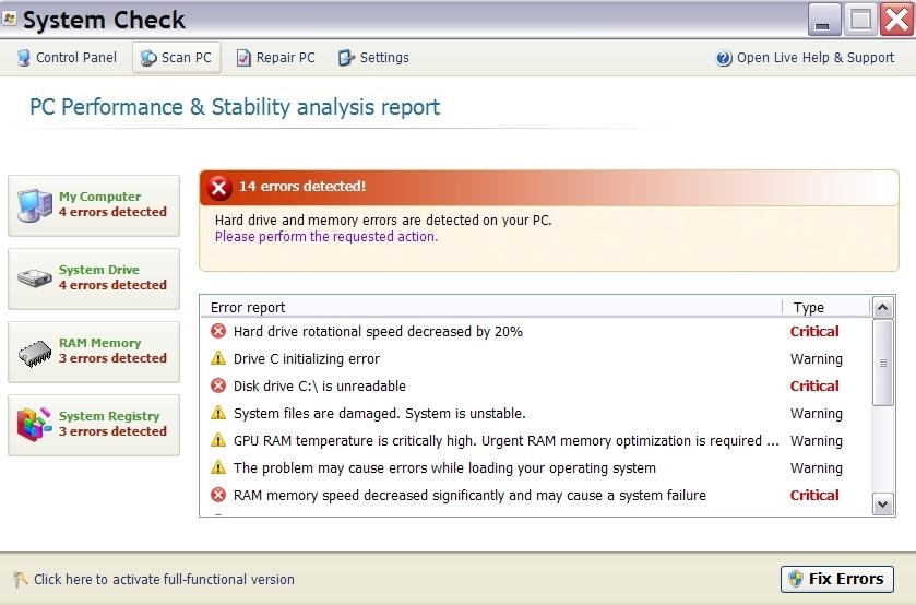 System Check virus