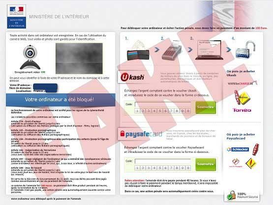 Ministere de l'Interieur ransomware