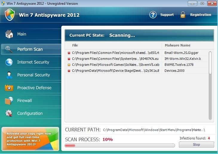 Win 7 Antispyware 2012 malware