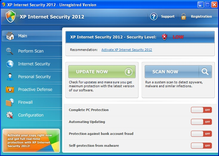 XP Internet Security 2012 virus