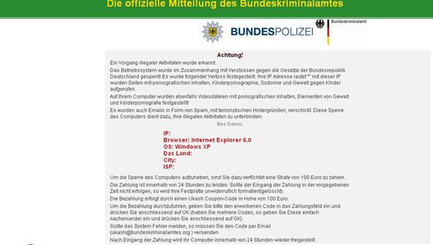 Bundes Polizei virus
