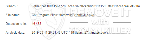 What is Homeville.exe?