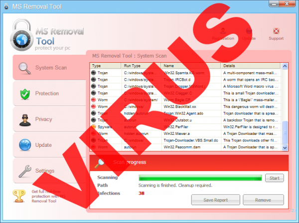 MS Removal Tool malware