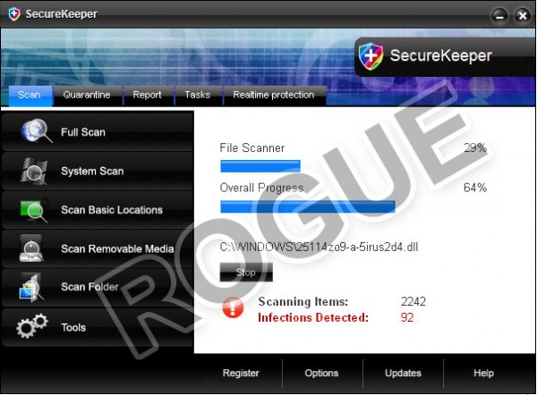 Rogue SecureKeeper Antivirus