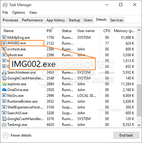 What is IMG002.exe?