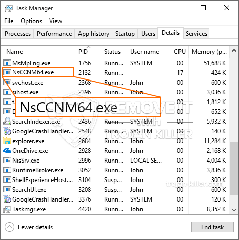 What is NsCCNM64.exe?