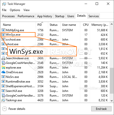 What is WinSys.exe?