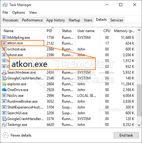 What is Atkon.exe?
