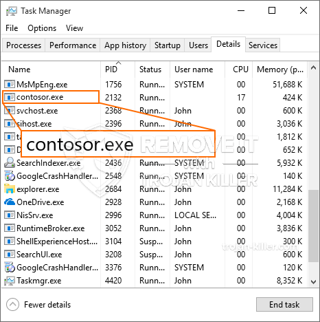 What is Contosor.exe?